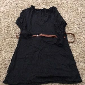 Maternity belted tunic